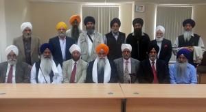 Sikhs leaders of United Kingdom meets Jathedar Giani Gurbachan Singh