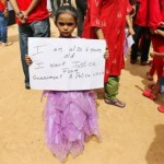 6 Years old girl demand justice for victim of Vibgyor High School rape victim