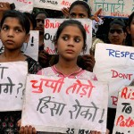 A file photo of anti-rape protest.