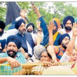 DSGMC, Badal Dal protests outside Sonia Gandhi's house in Delhi
