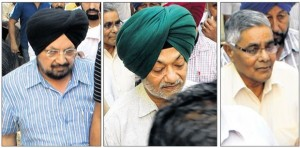 Former DIG S.P.S. Basra, DSP Jaspal Singh and Police chowki in-charge Sita Ram after conviction. [May 09, 2014]