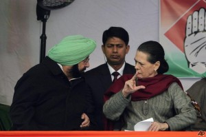 Captain Amrinder Singh (L) and Sonia Gandhi (R) - [File Photo]