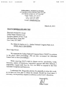 Copy of reply filed in US court by Attorney of the Congress (I)