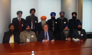 UK and Italian Sikh representatives meeting Phil Bennion MEP