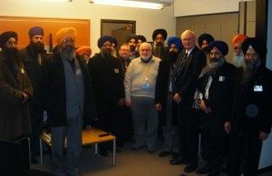Sikh representatives pictured with Stuart Agnew MEP in the office of UKIP leader Nigel Farrage MEP and the newly established Europe of Freedom and Democracy (EFD) political grouping
