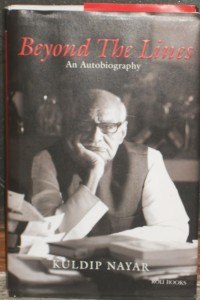 Between the Lines - autobiography of Journalist Kuldip Nayar
