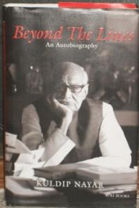 Between the Lines - autobiography of Journalist Kuldip Nayar