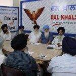 Dal Khalsa leaders discussing the issue in a party meeting