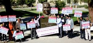 Demonstration for Truth on Gandhi