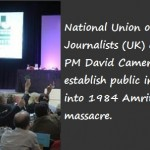 NUJ calls on PM David Cemeron to estalish public inquiry into 1984 Amritsar massacre
