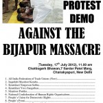 Protest Demonstration against Bijapur Massacre