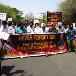 Protest in Pune against denial of justice to the victims of Sikh Genocide 1984