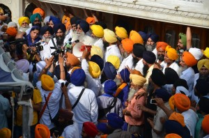 S. Simranjit Singh Mann addressing the gathering at Sri Akal Takhat Sahib (June 06, 2013)