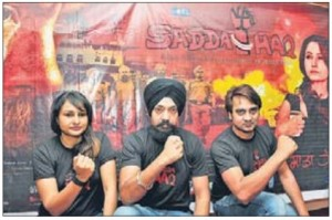 Sadda Haq team members addressed a press conference at Amritsar on May 05, 2013