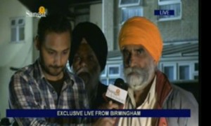 Upinder Randhawa, Sangat TV's presenter covered riots live from Birmingham