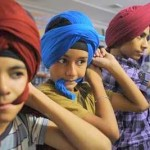Sikh Kids trying Dastars