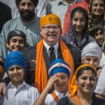 Lt. Brian Murphy with young Sikhs and Children at Oak Creek Gurdwara Sahib