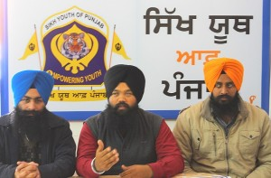 Sikh Youth of Punjab leaders addressing media