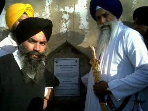 Giani Gurbachan Singh laid foundation of Sikh Genocide 1984 Memorial at Village Hondh