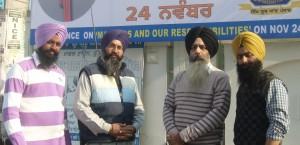 Dal Khalsa spokesperson Kanwarpal Singh with others